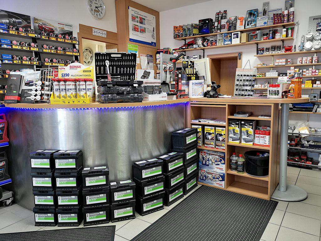 Auto-Shop Kirchhellen - Batterien aller gängiger Größen ständig vor Ort